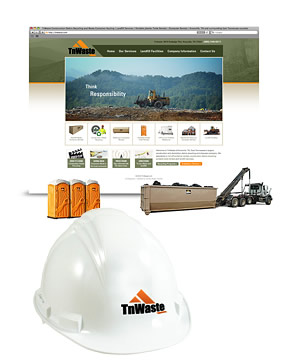 Location photography, web design, online service request, SEO and recycling video for TnWaste.